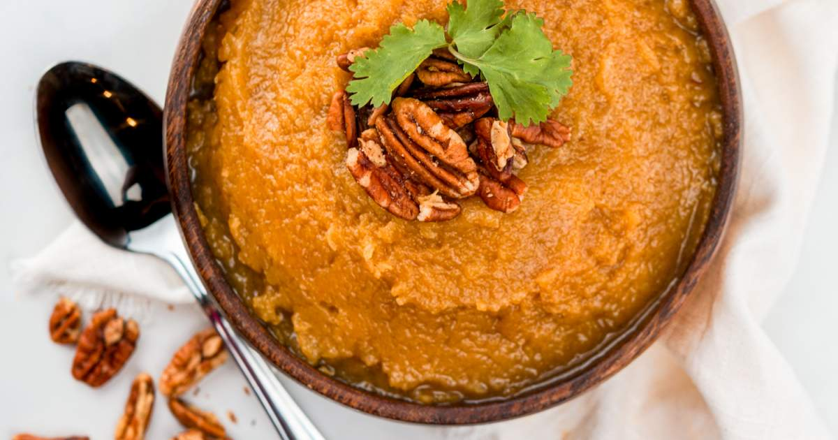 Slow Cooker Brown Sugar Butternut Squash