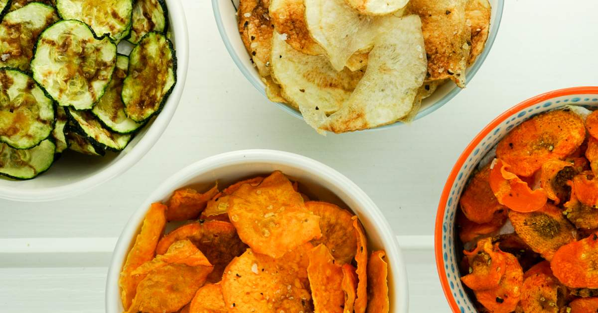 Microwave Veggie Chips - Slender Kitchen