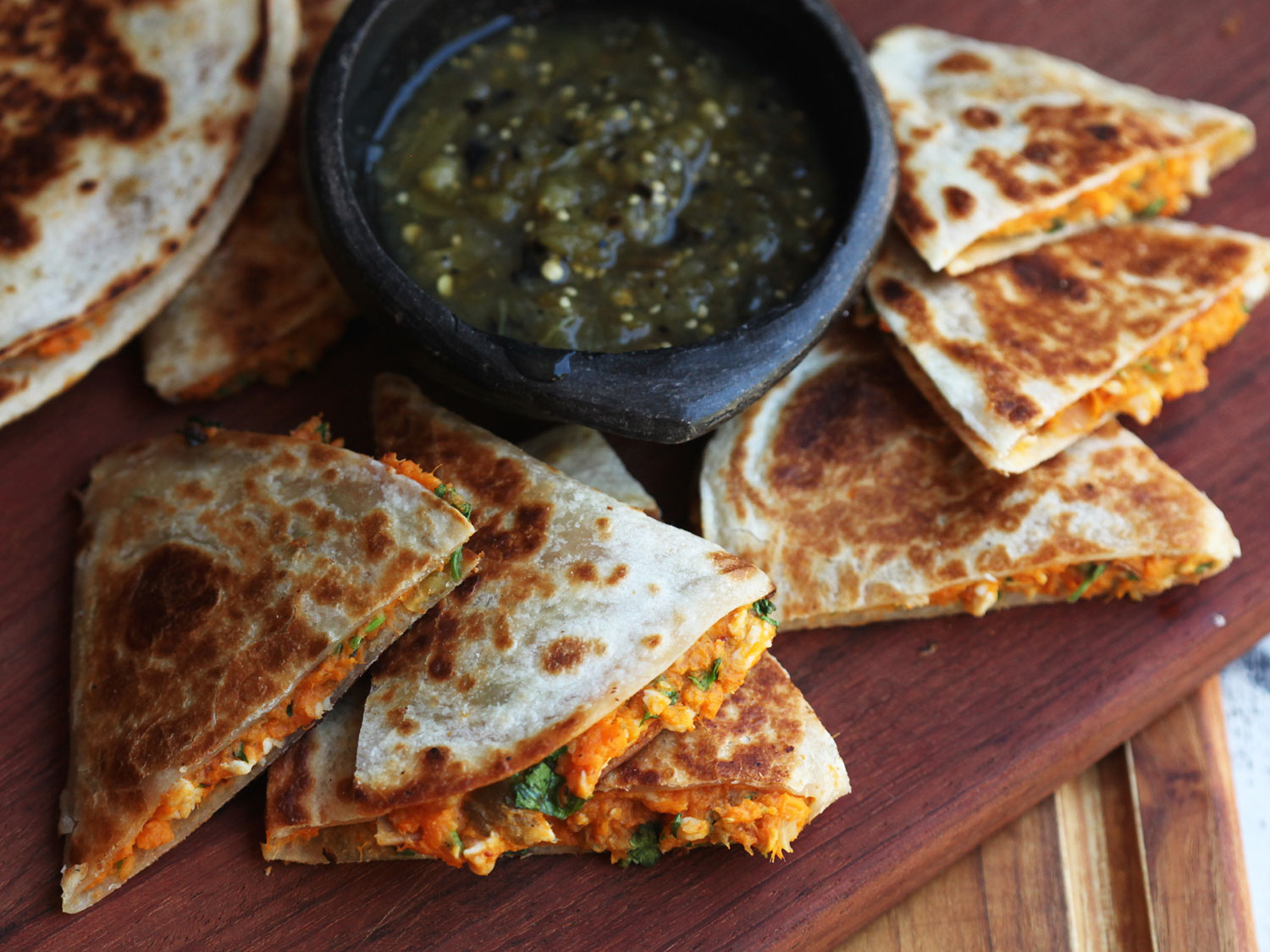 Quesadillas With Sweet Potato Instead of Cheese: W...