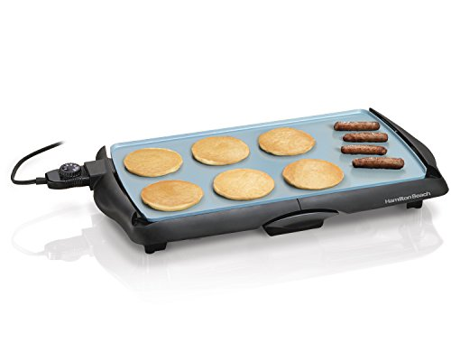 Hamilton Beach 38518 Durathon Ceramic Griddle, Bla...