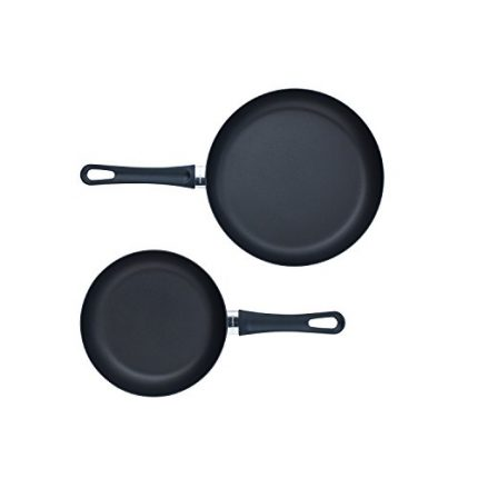 Scanpan Classic 2 Piece Fry Pan Set, Black