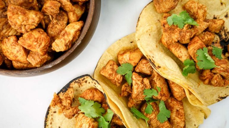 Easy Chicken Soft Tacos - Slender Kitchen