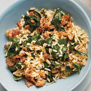 How to Cook Sausage-Spinach Rice Bowl