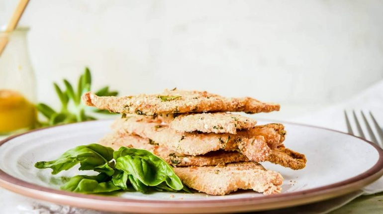Parmesan Crusted Chicken - Slender Kitchen